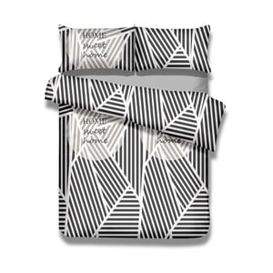 Sada bavlnenej obliečky na perinu a 2 obliečok na vankúše AmeliaHome Averi Sweet Home Light, 220×240 cm + 63×63 cm