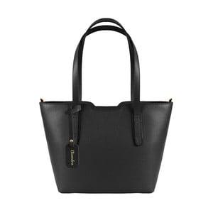 Čierna kožená kabelka Maison Bag Alicia