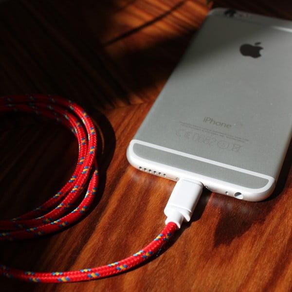 Nabíjací kábel Lightning pre iPhone 5 a iPhone 6 Red Royal, 1,5 m
