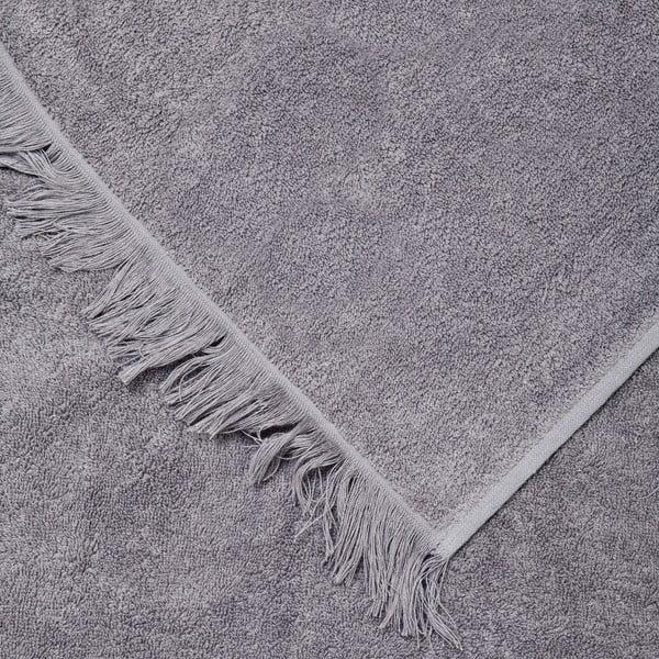 Sada 2 sivých bavlnených osušiek Casa Di Bassi Bath, 70x140cm