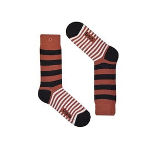 Ponožky Qnoop Linear Wide Marsala, veľ. 39-42