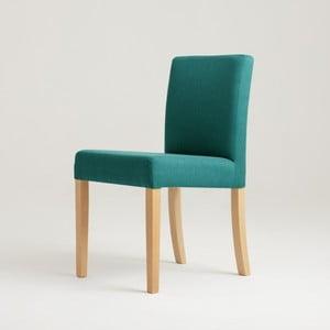 Tyrkysová stolička s prírodnými nohami Custom Form Wilton