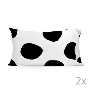Sada 2 obliečok na vankúš Blanc Dot, 50 x 80 cm