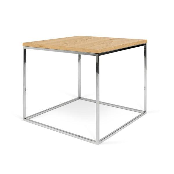 Konferenčný stolík s chrómovými nohami TemaHome Gleam, 50cm