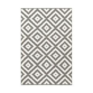Sivý obojstranný koberec vhodný aj do exteriéru Green Decore Ava, 60 × 90 cm