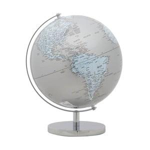 Dekoratívny glóbus Mauro Ferretti Mappamondo Silver, ⌀ 25 cm