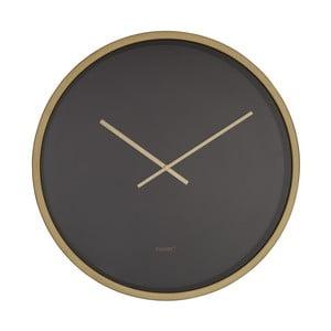 Čierno-mosadzné nástenné hodiny Zuiver Time Bandit