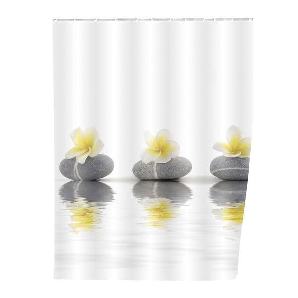 Záves do sprchy Stones with Flower
