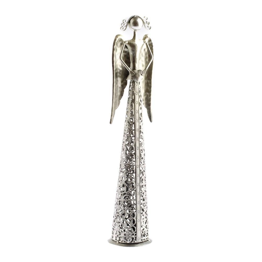 Kovová dekorácia v tvare anjela Dakls Angel, výška 56 cm