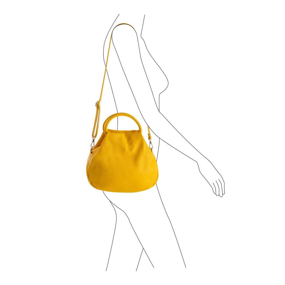Žltá kabelka z pravej kože Andrea Cardone Dolcezze ... 9833d5583d5
