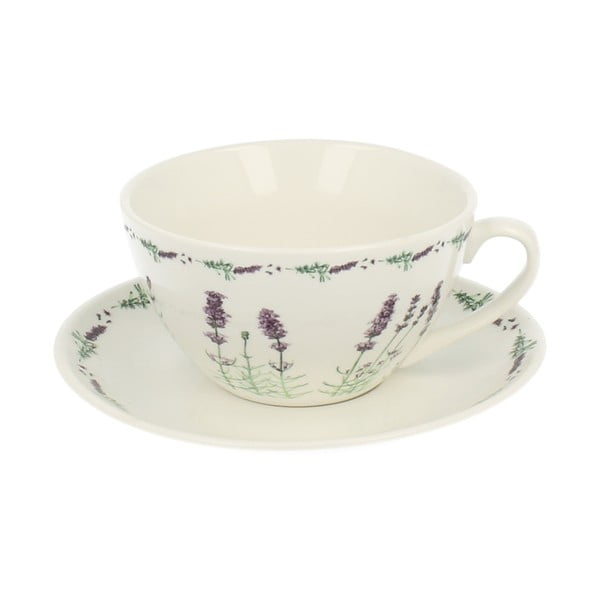 Porcelánový hrnček s podšálkem Duo Gift Lavender, 300ml