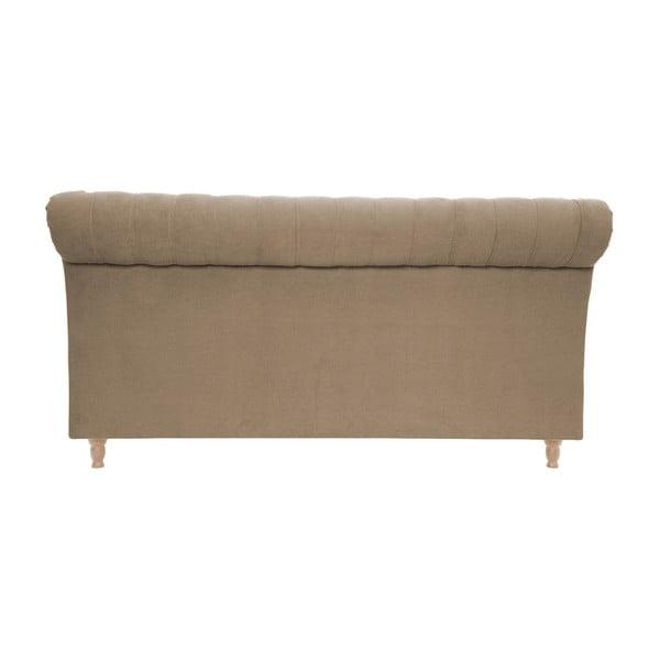 Hnedá posteľ VIVONITA Allon 180x200cm, svetlé nohy