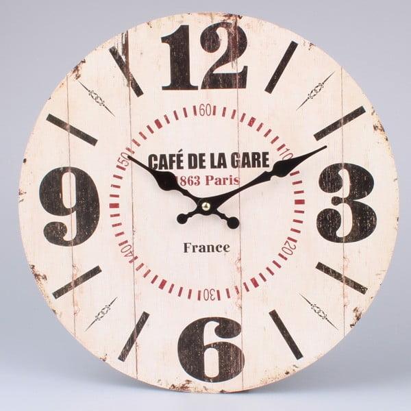 Drevené hodiny Café De La Gare