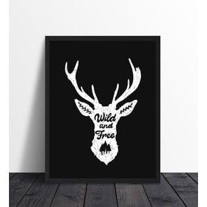 Zarámovaný plagát We Love Home Wild Black, 40 x 50 cm