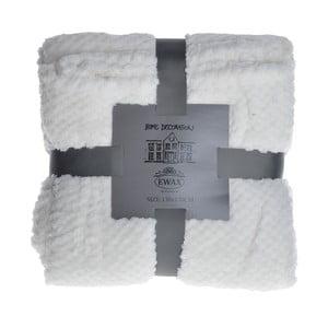 Prikrývka na posteľ Koc 130x170 cm, biela