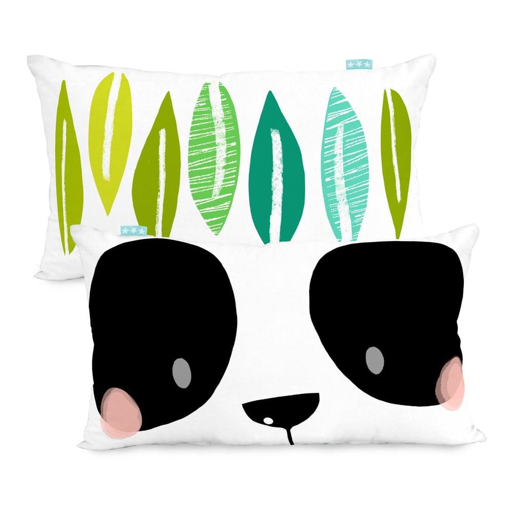 Obojstranná obliečka na vankúš Moshi Moshi Panda Garden, 50 × 30 cm