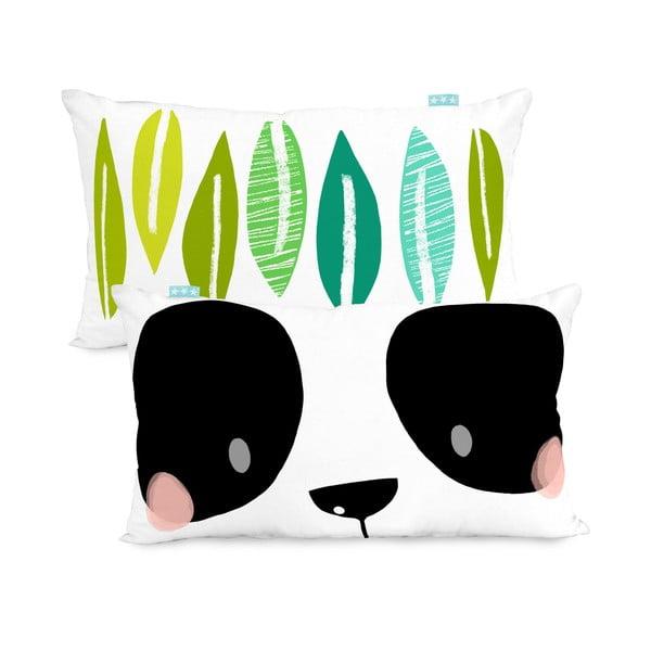 Bavlnená obojstranná obliečka na vankúš Moshi Moshi Panda Garden, 50 x 30cm