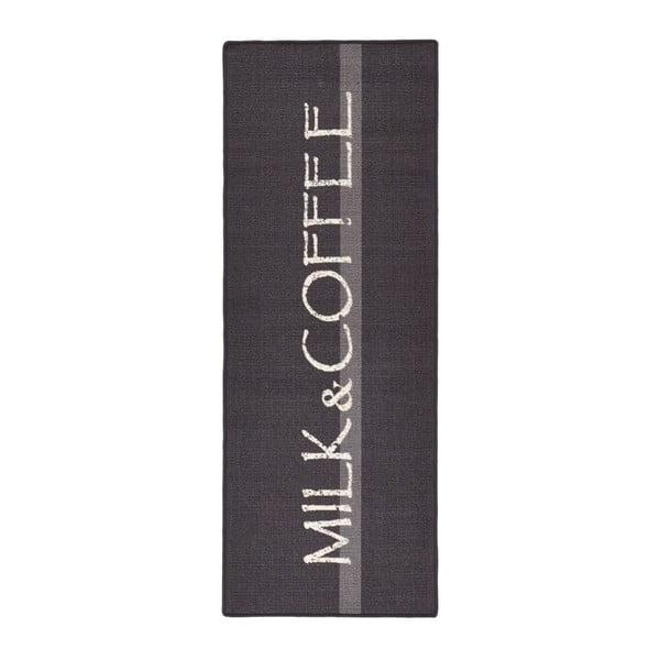 Sivý kuchynský koberec Hanse Home Milk & Coffee, 67x180cm