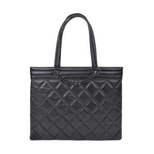 Čierna kožená kabelka Roberta M Margot