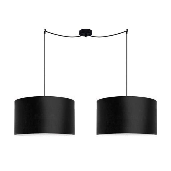 Sada dvoch závesných svietidiel Tres, čierna, priemrr 40cm