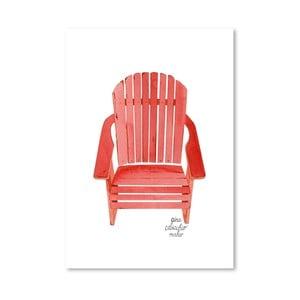 Autorský plagát Adirondack Chair, 30x42 m