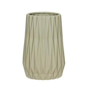Sivá keramická váza Hübsch Ditmer