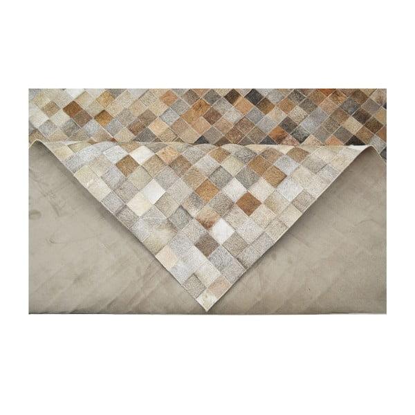 Koberec z pravej kože Sao Paulo Beige, 140x180 cm