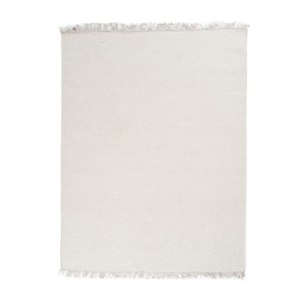 Vlnený koberec Rainbow White, 90x160 cm