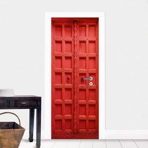 Samolepka na dvere Červená