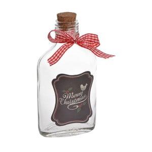 Sklenená fľaša Merry Chistmas Small