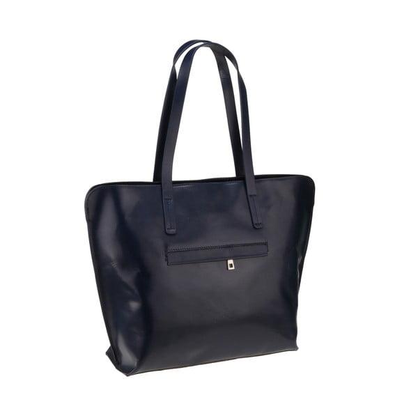 Tmavomodrá kožená kabelka Florence Vega