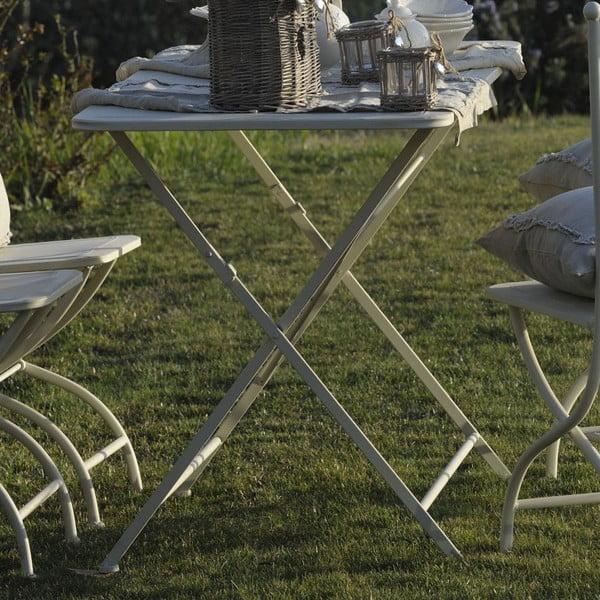 Kovový stolík Luxe, slonovinová kosť