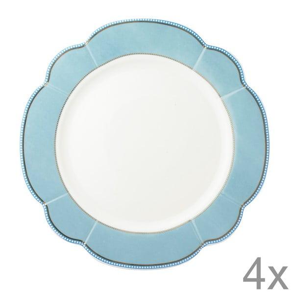 Porcelánový tanier  Minitie od Lisbeth Dahl, 24 cm, 4 ks