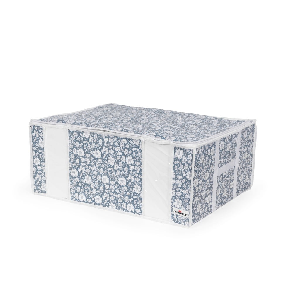 Modrý vakuový úložný box na oblečenie Compactor Signature Vicky 3D Vacuum Bag, 210 l