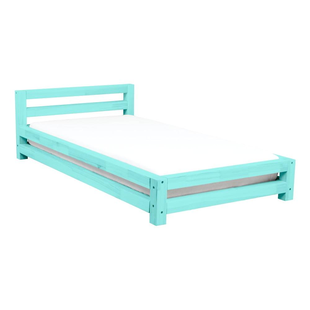 e5317c025420 Tyrkysová jednolôžková posteľ z borovicového dreva Benlemi Single