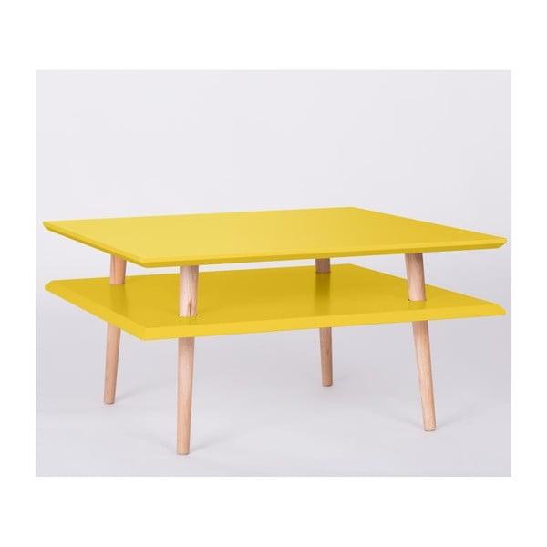 Konferenčný stolík UFO Square žltá, 35 cm