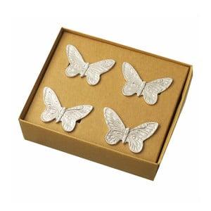 Sada 4 krúžkov na servítky Parlane Butterfly