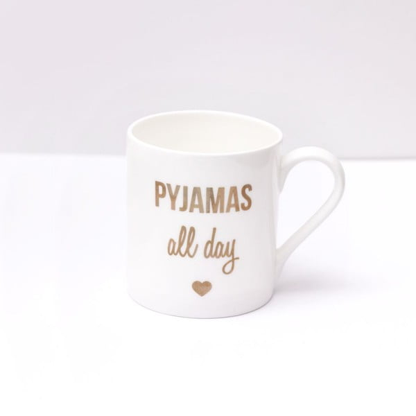 Porcelánový hrnček Pyjamas all day, 290 ml