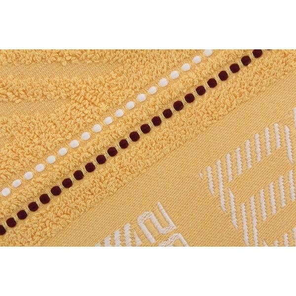 Pastelovožltý bavlnený uterák BHPC, 50x100cm