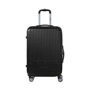Čierny cestovný kufor na kolieskách s kódovým zámkom SINEQUANONE Chandler, 71 l
