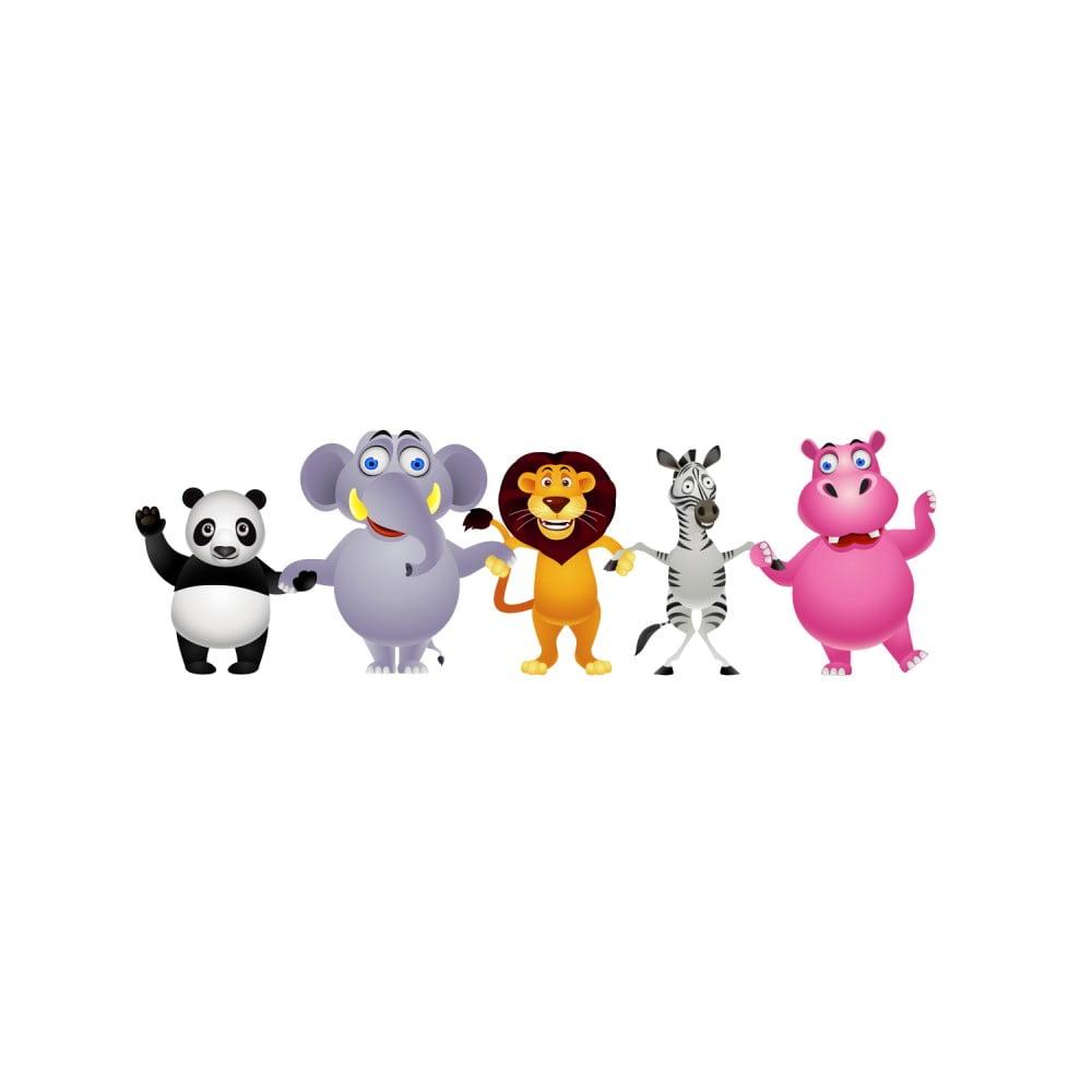 Nástenné detské samolepky Ambiance Fantastic Jungle Friends
