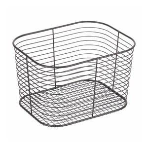 Čierny úložný košík iDesign Wien, 23,8 × 18,6 cm
