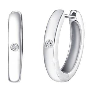 Strieborné náušnice s pravým diamantom Tess Diamonds Ilze