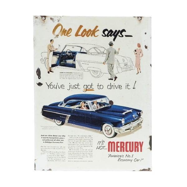Ceduľa na stenu Mercury Blue