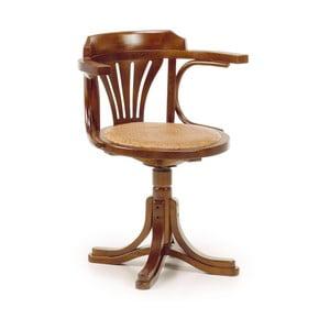 Otočná stolička z dreva bieleho cédra Moycor Star Rattan