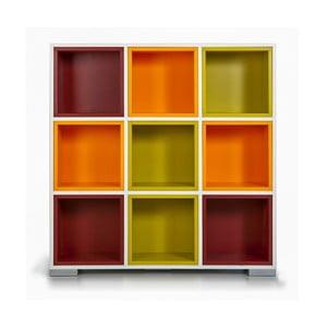 Knižnica Domino, farebné boxy