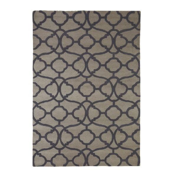 Vyšívaný koberec Large Tile Print, 170 x2 40 cm, sivý