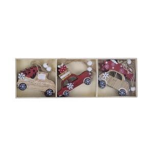 Sada 6 dekoratívnych závesných ozdôb v tvare autíčka Ego Dekor