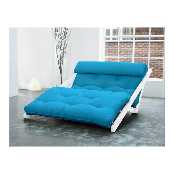 Leňoška Karup Figo, White/Horizon Blue, 120 cm