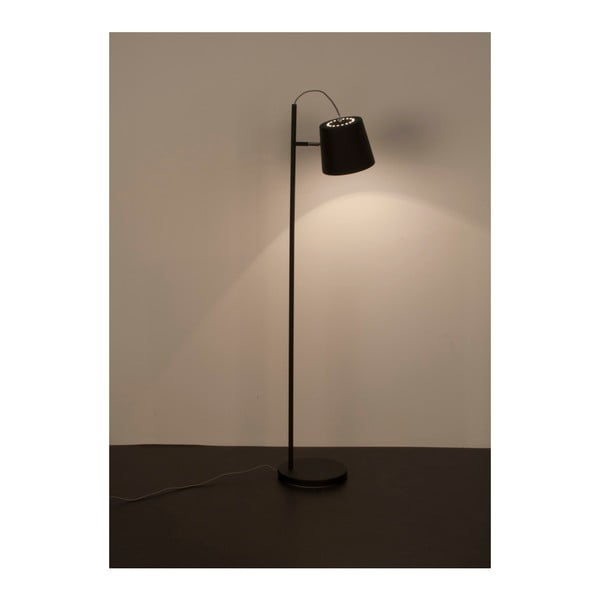 Čierna stojacia lampa Zuiver Buckle Head